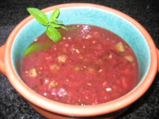 Watermellon mint soup