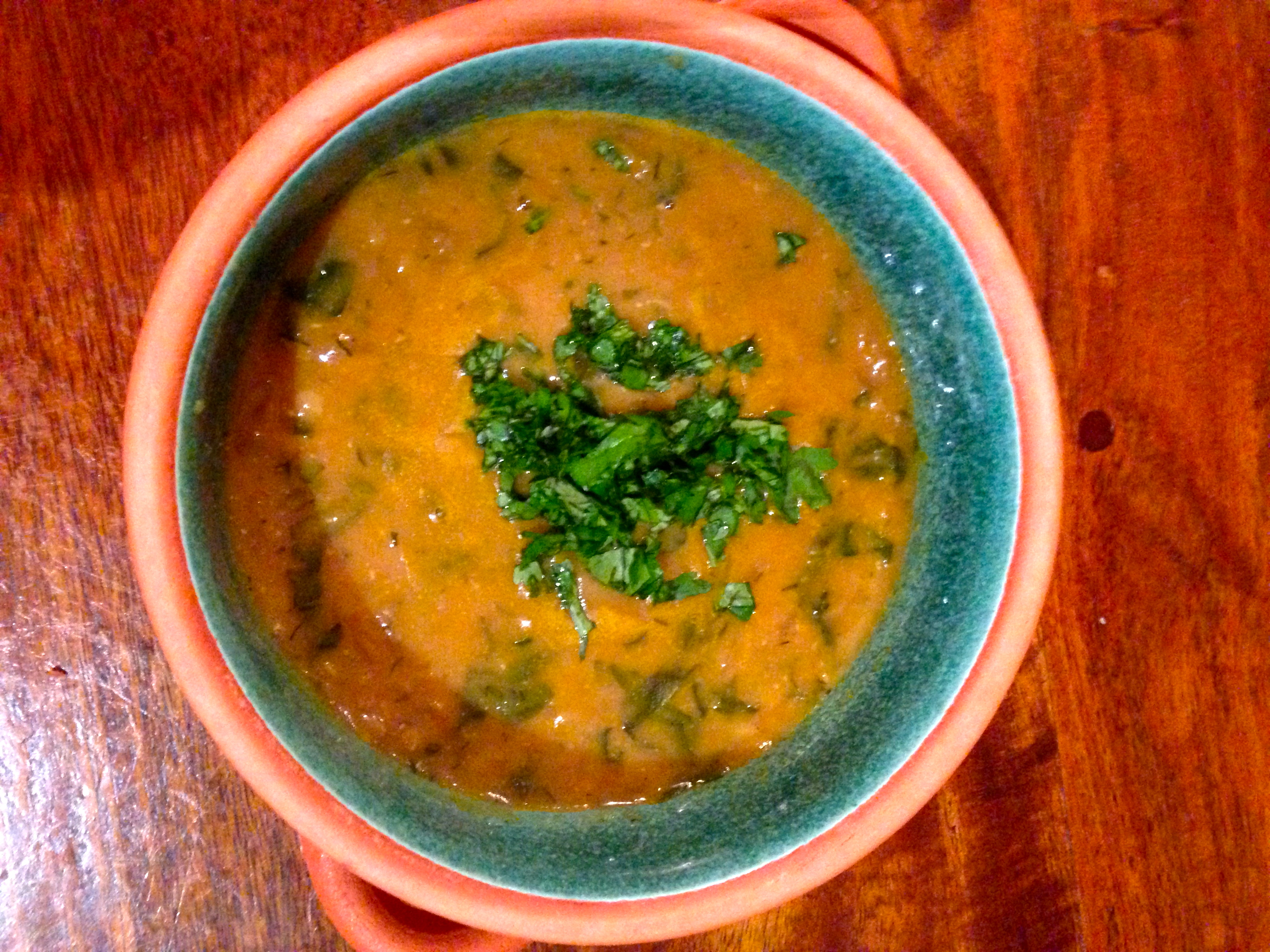 This is a perfect winter soup: warmly spiced, nicely herbed,..