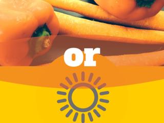 Sun or carrot